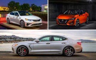 Популярные седаны после рестайлинга 2019 года: Kia Optima, Nissan Sentra, Genesis G70