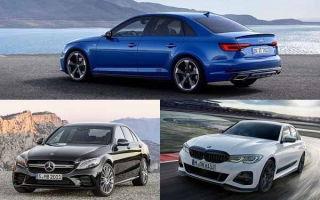 Компактные люксовые седаны 2019-2020 года: Audi A4, Mercedes-Benz C-Class,  BMW M-Series