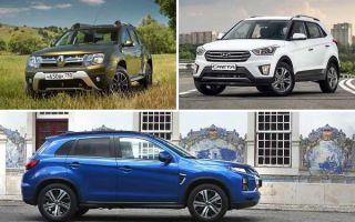 Кроссоверы с полным приводом: Renault Duster, Hyundai Creta, Mitsubishi ASX