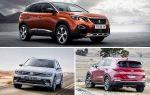 Кроссоверы с дизельными двигателями: Peugeot 3008, Volkswagen Tiguan, Kia Sportage