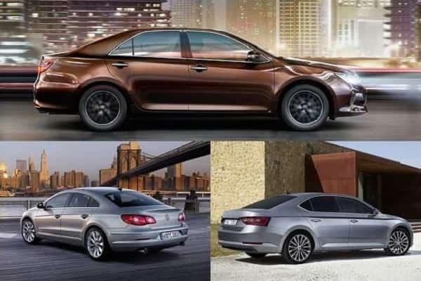 Бизнес-седан Skoda, Toyota, Volkswagen