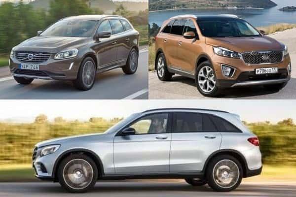 Кроссоверы: Kia Sorento Prime, Volvo XC60, Mercedes-Benz GLC 250