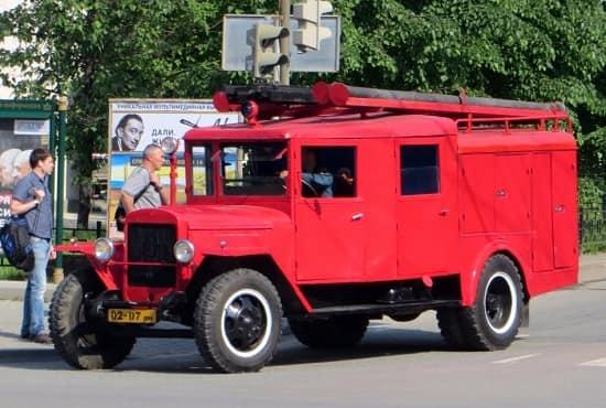 Пожарная машина ПМЗ-11 УралЗиС-5