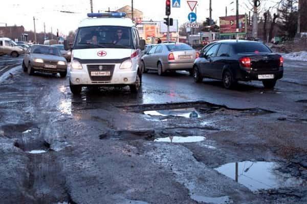 Плохие дороги в городе