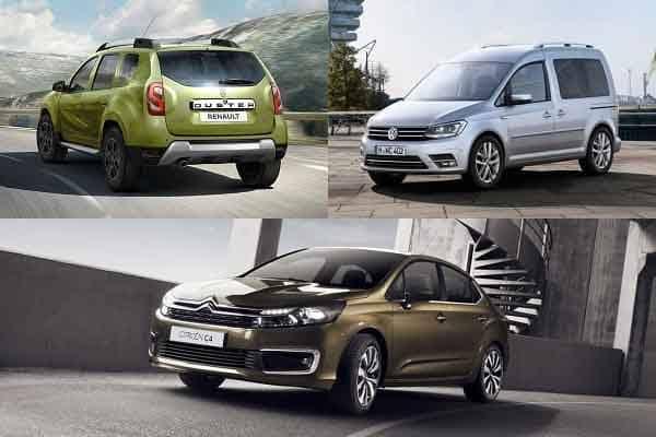 Автомобили с маленьким дизельным двигателем Renault Duster, Volkswagen Caddy, Citroen C4 Sedan