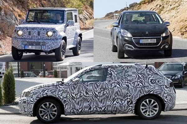 Компактные кроссоверы 2018 года Suzuki Jimny, Peugeot 1008, Volkswagen T-Cross