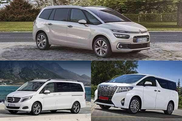 Полноразмерные минивэны Citroen Grand C4 Picasso, Mercedes-Benz V-Class, Toyota Alphart