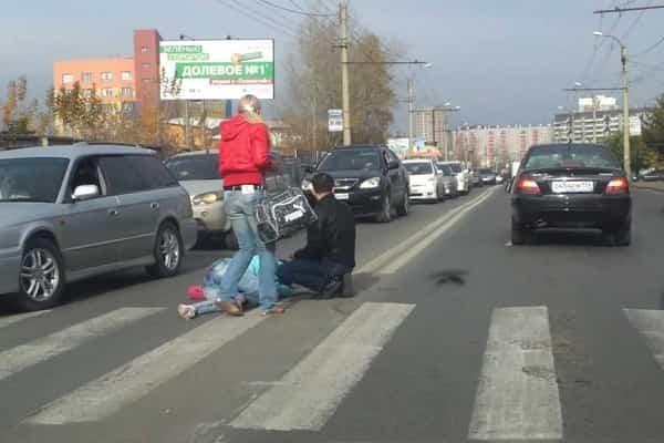 Авария на нерегулируемом пешеходном переходе