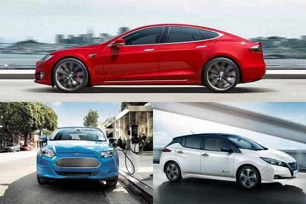 Электромобили Tesla Model S, Ford Focus Electric, Nissan Leaf