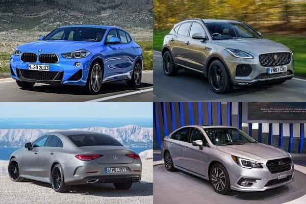 BMW X2, Jaguar E-Pace, Mercedes-Benz CLS, Subaru Legacy
