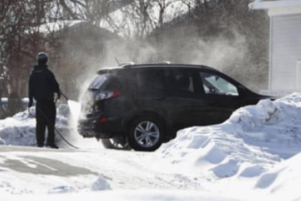 Мойка автомобиля зимой