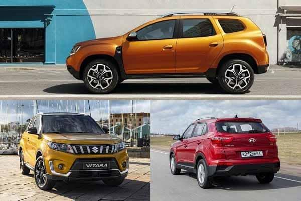 Полноприводные кроссоверы Renault Duster, Hyundai Creta, Suzuki Vitara