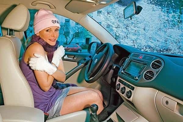 В машине холодно