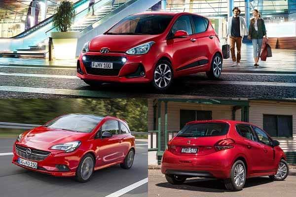Малолитражки Opel Corsa, Hyundai i10, Peugeot 208