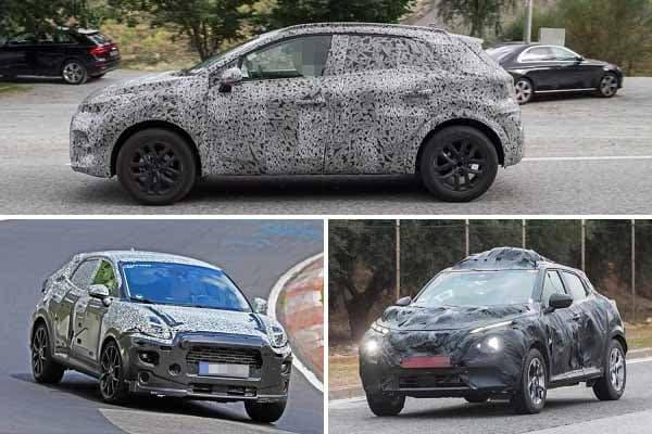 Компактные кроссоверы 2020 года Renault Captur, Ford Puma, Nissan Juke