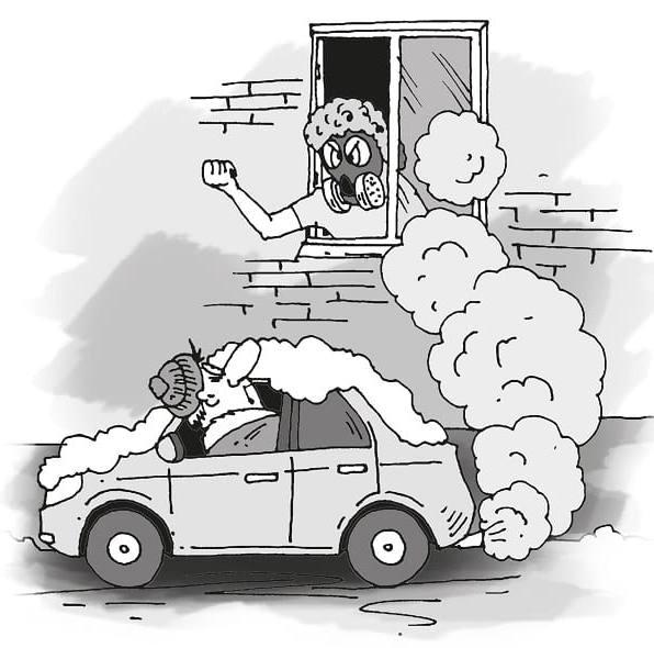 Прогрев машины во дворе