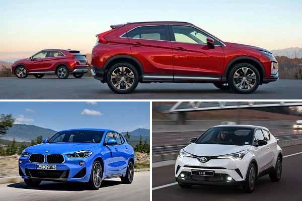 Кроссоверы с нестандартным кузовом: Mitsubishi Eclipse Cross, BMW X2, Toyota C-HR