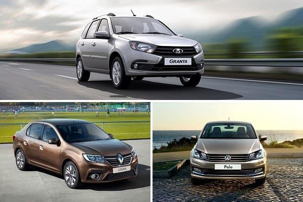 Бюджетные седаны с МКПП LADA Granta, Renault Logan, Volkswagen Polo