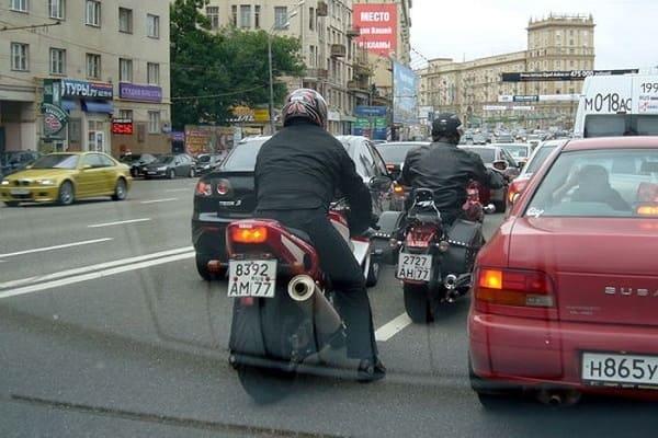 Мотоциклисты в Москве