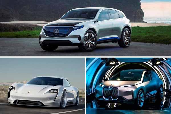 Электрические кроссоверы Mercedes-Benz, Porsche и BMW
