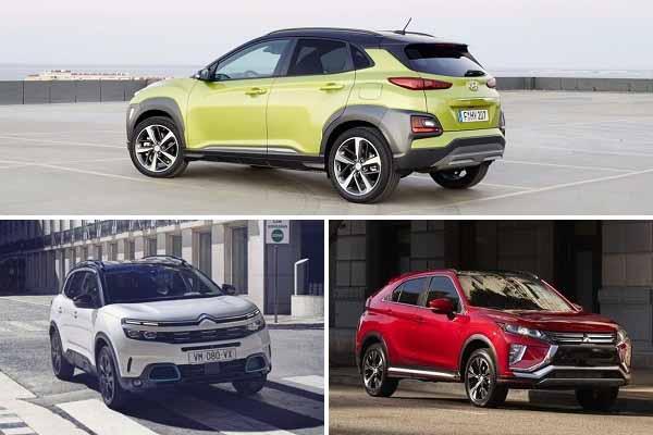 Компактные кроссоверы 2020 года Hyundai Kona, Citroën C4 Aircross, Mitsubishi Eclips Cross