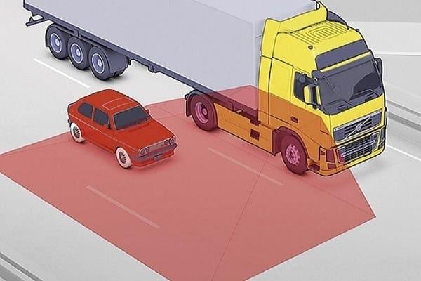Слепая зона грузовика