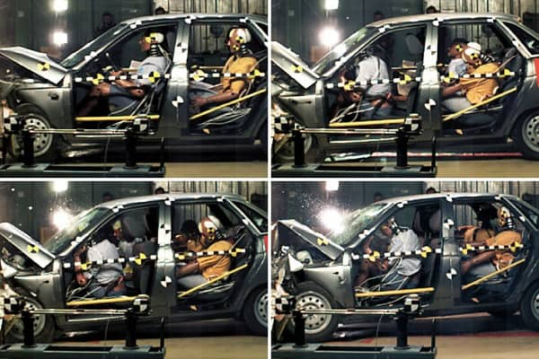 Манекены в автомобиле