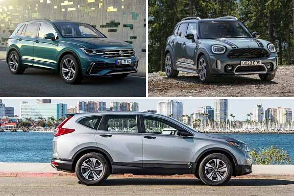 Компактные кроссоверы Volkswagen Tiguan, Mini Countryman, Honda CR-V
